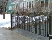 Finelli Ironworks custom decorative wrought iron driveway gate handmade in cleveland ohio