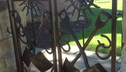 Finelli Architectural Iron and stairs custom unique garden gate handmade in cleveland ohio