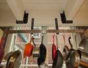 Finelli Ironworks custom pot rack handmade in cleveland ohio