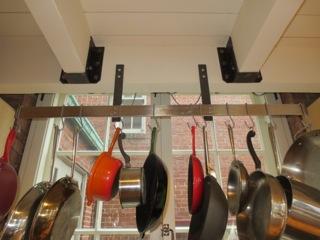 Finelli Ironworks custom pot rack handmade in cleveland ohio