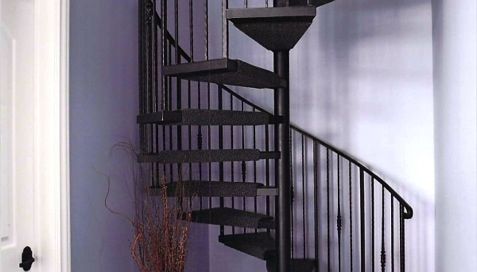 custom iron basement spiral staircase by finelli architectural iron and stairs