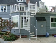 Custom iron spiral staircase handmade in cleveland ohio by finelli architectural iron and stairs
