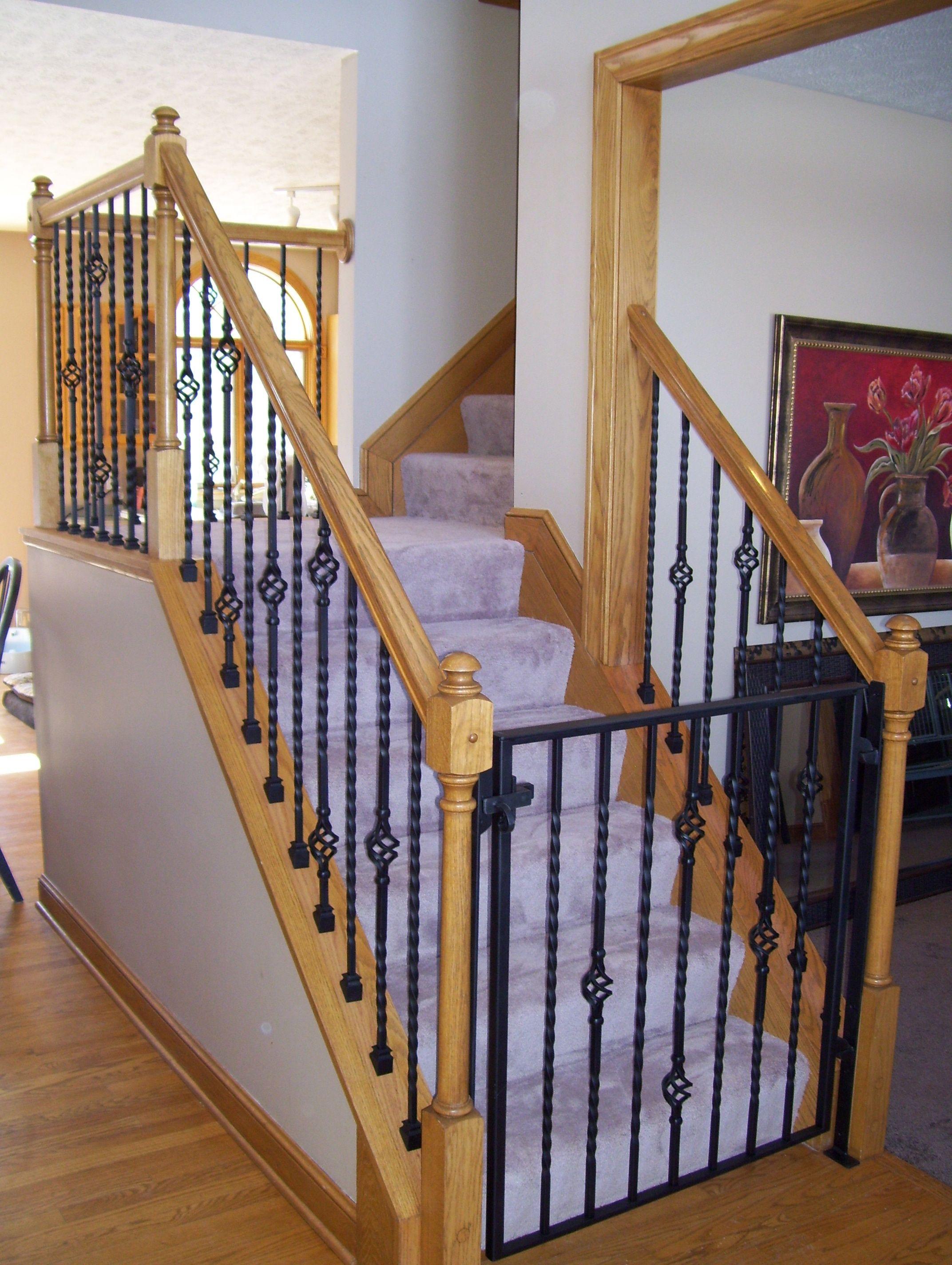 Finelli Ironworks Custom Staircase Gate - Finelli Ironworks