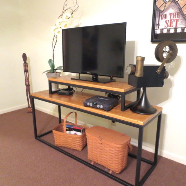 Custom Wood And Iron Tv Stand Finelli Ironworks