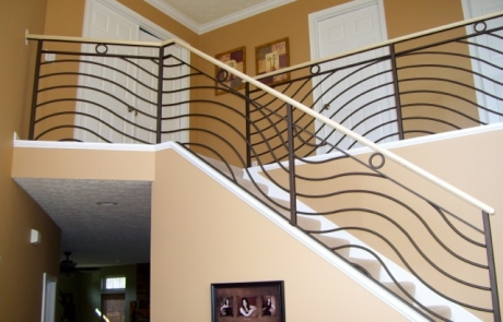 Finelli Architectural Iron and Stairs custom staircase remodel in north east ohio