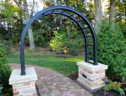 Finelli Architectural Iron and Stairs custom iron garden arbor handmade in cleveland ohio