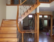 Finelli Architectural Iron and Stairs new custom staircase remodel with custom wood steps and iron railings