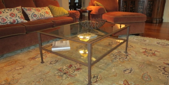 Finelli Architectural Iron and Stairs custom modern iron and glass coffee table