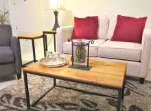 Finelli Architectural Iron and Stairs custom rustic iron and wood coffee table handmade in cleveland ohio
