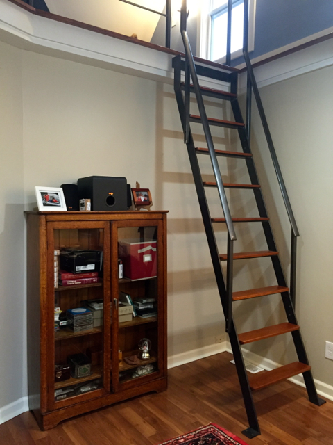 Custom Stationary Library Ladder Finelli Ironworks