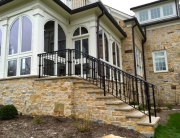 finelli ironworks handmade custom iron exterior staircase railing in moreland hills ohio