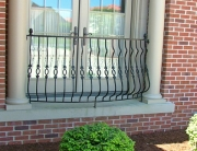 finelli ironworks custom handmade exterior decorative wrought iron balcony railing in columbus ohio