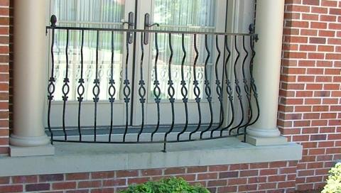 finelli ironworks custom handmade exterior decorative wrought iron balcony railing in columbus ohio