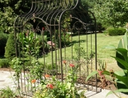 finelli iron works custom handmade quality wrought iron garden arbor