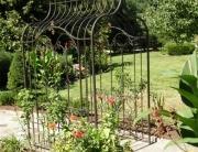 finelli iron works custom handmade quality wrought iron garden arbor
