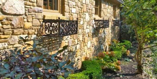 Finelli iron and stairs custom handmade aluminum garden flower box custom made in akron ohio