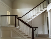 finelli architectural iron and stairs custom staircase railing and balcony in foyer handmade in columbus ohio