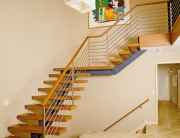 finelli architectural iron and stairs custom handmade modern style iron and wood staircase in north east ohio