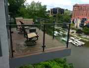 finelli architectural iron and stairs custom handmade exterior iron and glass balcony railing best made in avon ohio