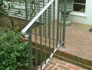 finelli custom iron works handmade modern front porch step railing in columbus ohio