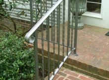 finelli custom iron works handmade modern front porch step railing in columbus ohio