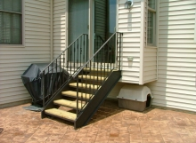 finelli iron works custom handmade wrought iron patio staircase custom made in chagrin falls ohio