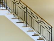 Finelli architectural iron and stairs custom handmade modern art deco style railing custom made in hudson ohio