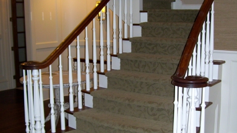 finelli architectural iron and stairs custom wood spindles and staircase system remodel in ohio