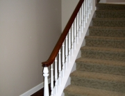 finelli architectural iron and stairs custom wood spindle and railing system remodel in ohio