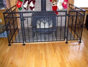 Finelli architectural iron and stairs custom handmade wood burning stove safety gate made in shaker heights ohio