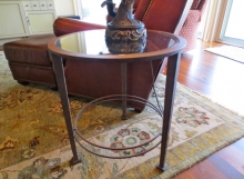 Finelli ironworks custom handmade ornate wrought iron end table furniture handmade in akron ohio