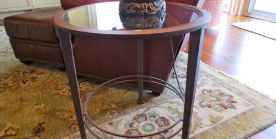 Finelli ironworks custom handmade ornate wrought iron end table furniture handmade in akron ohio
