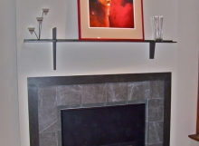 Finelli architectural iron and stairs custom handmade interior fireplace mantel and border handmade in hudson ohio