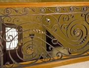 Finelli iron luxury high end custom made wrought iron interior staircase railing in hudson ohio