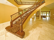finelli iron custom luxury high end custom iron staircase wood and iron in cleveland ohio