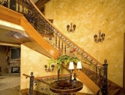 finelli iron high end luxury custom front staircase railing and stairs handmade in waite hill ohio