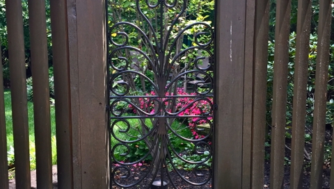 finelli iron luxury high end custom hand forged iron garden gate unique design in avon lake ohio