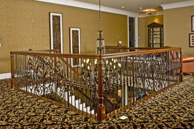 Finelli Iron High End Luxury Custom Interior Design Staircase Railing Quality Made In Cleveland Ohio