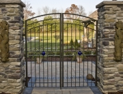 finelli ironworks handmade wrought iron custom yard gate with unique design feature in cleveland ohio