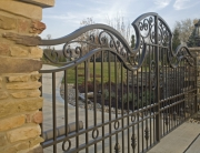 finelli ironworks custom handmade decorative grand driveway gate in cleveland ohio
