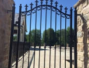 finelli ironworks custom handmade wrought iron decorative walk through gate
