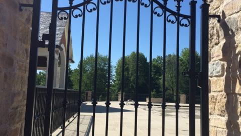 finelli ironworks custom handmade wrought iron decorative walk through gate