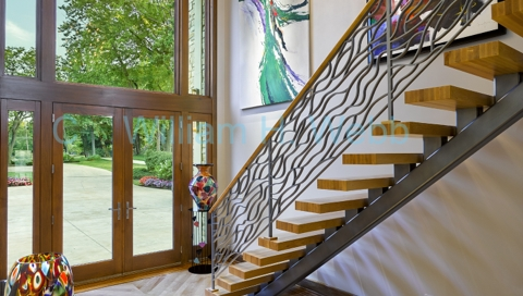 finelli iron custom hand made floating steel staircase high end bay village ohio