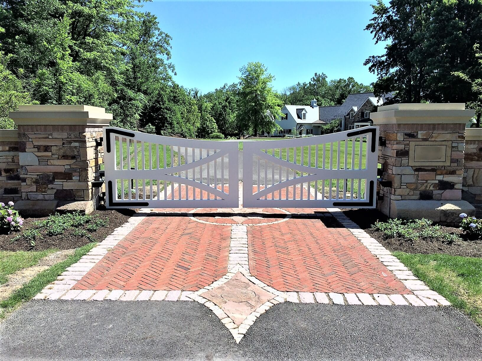 Timber Frame Wood Gate With Wrought Iron Hardware