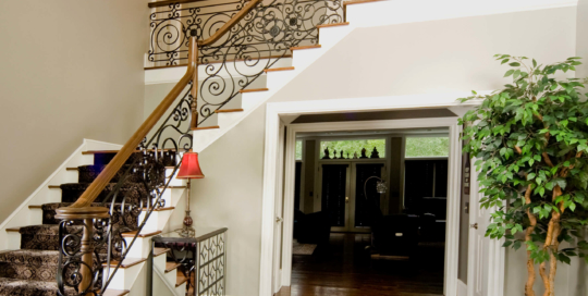 traditional iron railing
