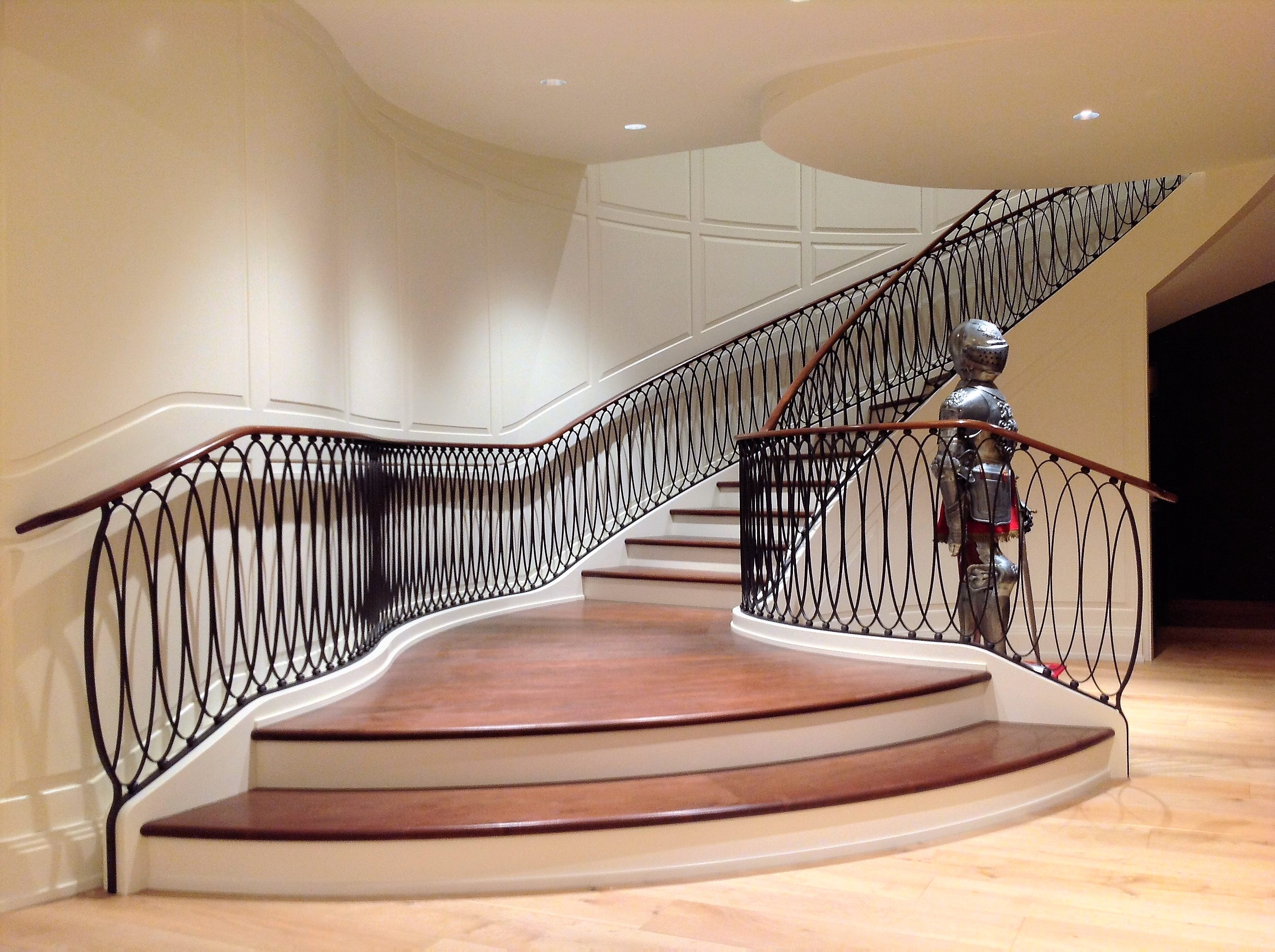 Elliptical Oval Iron Railing Contemporary Railings Interior