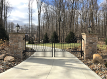 custom steel driveway gates