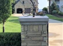 iron driveway lamp post
