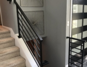 contemporary iron railing