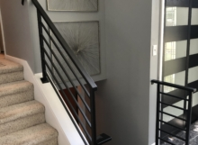 contemporary iron railing